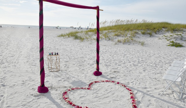 Beach elopement packages